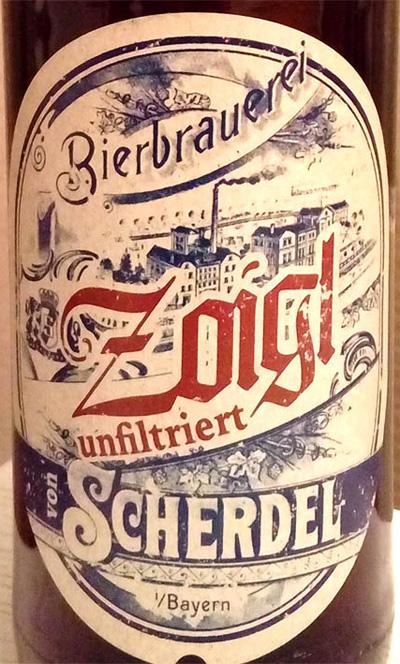 Отзыв о пиве Zoigl von Scherdel unfiltriert