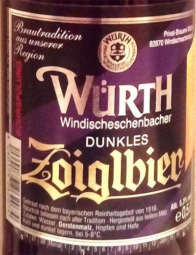 Отзыв о пиве Zoiglbier dunkles