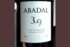 Отзыв о вине Abadal 3,9 2008