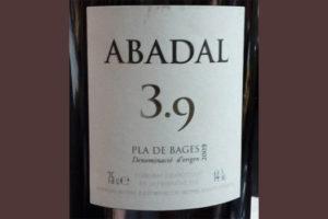 Отзыв о вине Abadal 3,9 2009