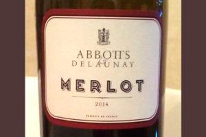 Отзыв о вине Abbotts & Delaunay Merlot 2014
