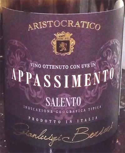 Отзыв о вине Appassimento salento 2014
