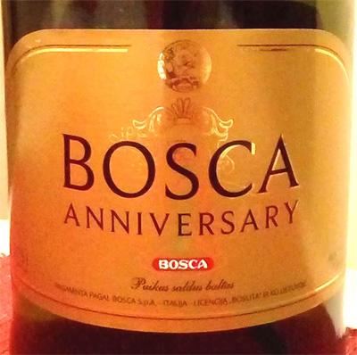 Отзыв о винном напитке Bosca anniversary