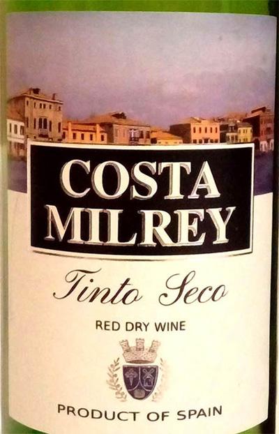 Отзыв о вине Costa Milray 2016