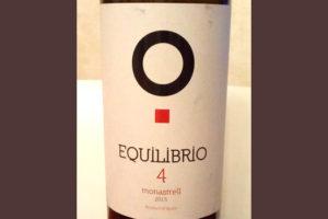 Отзыв о вине Equilibrio 4 monastrell 2015