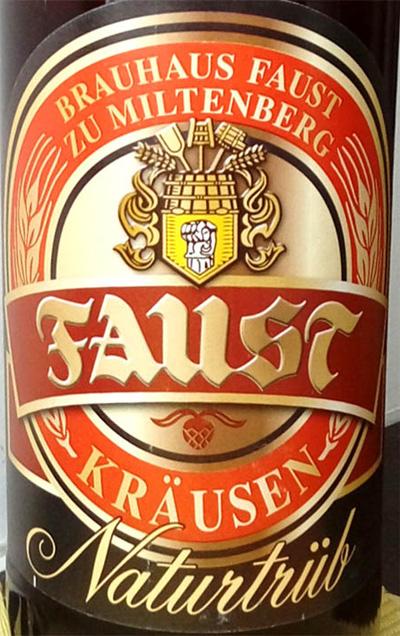 Отзыв о пиве Faust Krausen naturtrub