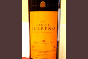 Отзыв о вине Finca Sobreno 2014