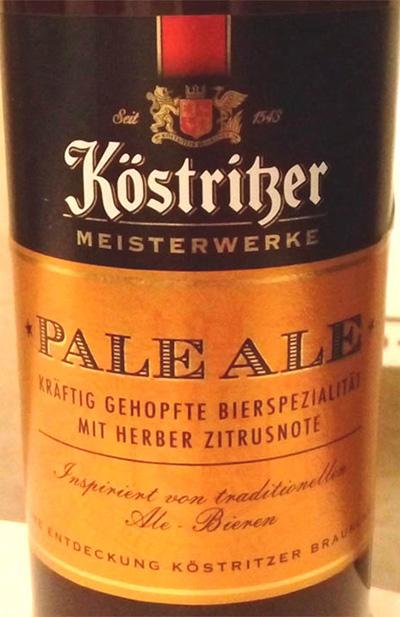 Отзыв о пиве Kostritser pale ale