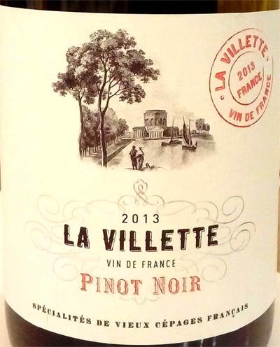Отзыв о вине La Villette pinot noir 2013