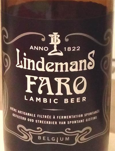 Отзыв о пиве Lindemans Faro lambic beer