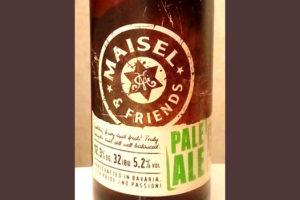 Отзыв о пиве Maisel & friends Pale Ale