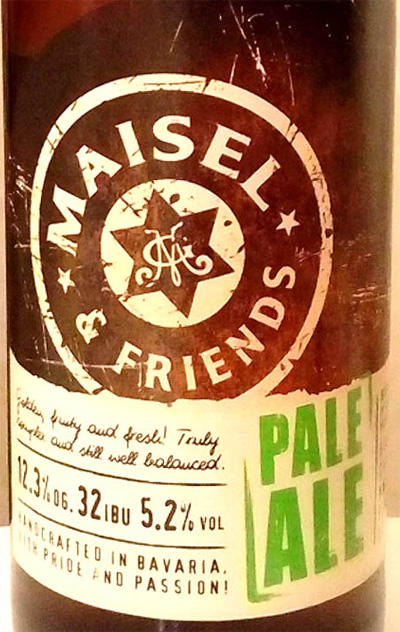Отзыв о пиве Maisel & friends Pale Ale