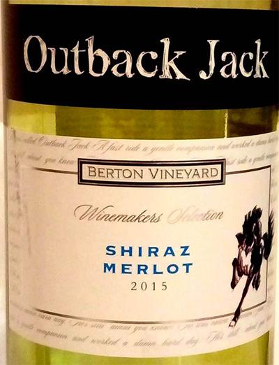 Отзыв о вине Outback Jack shiraz merlot 2015