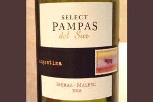 Отзыв о вине Pampas del Sur select shiraz malbec 2016