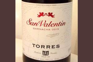 Отзыв о вине San Valentin garnacha Torres 2015
