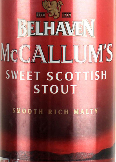 Отзыв о пиве Belhaven McCallum's sweet scottish stout