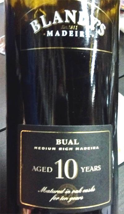 Отзыв о мадере Bual Blandy's madeira 10 years old 2013