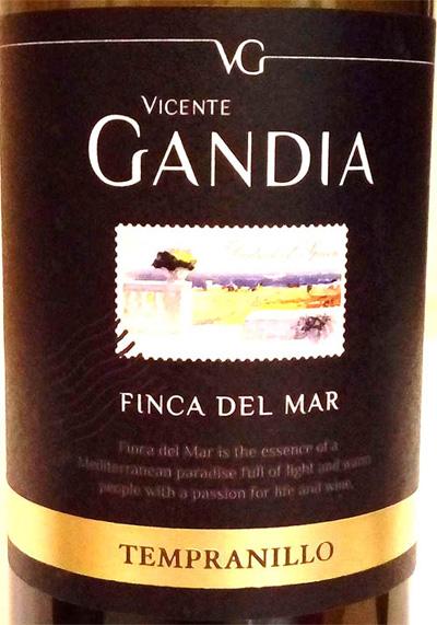 Отзыв о вине Finca del Mar tempranillo Vicente Gandia 2015