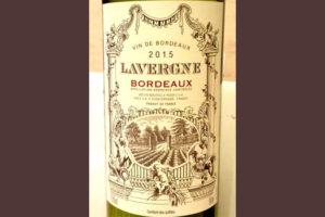 Отзыв о вине Lavergne Bordeaux 2015