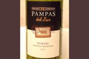 Отзыв о вине Pampas del Sur Syrah 2016