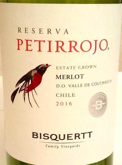 Отзыв о вине Petirrojo reserva merlot 2016