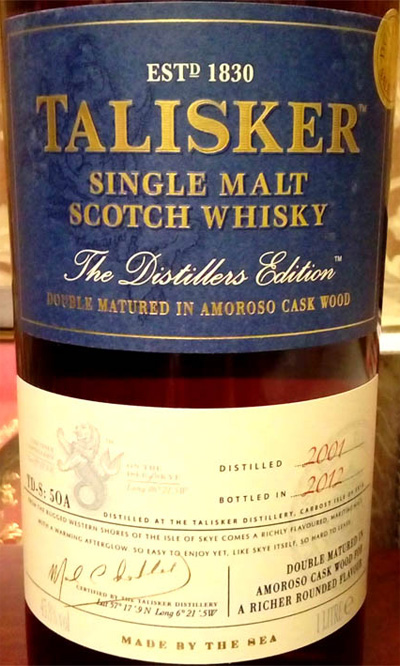 Отзыв о виски Talisker The Distillers Edition 2001-2012 1 liter