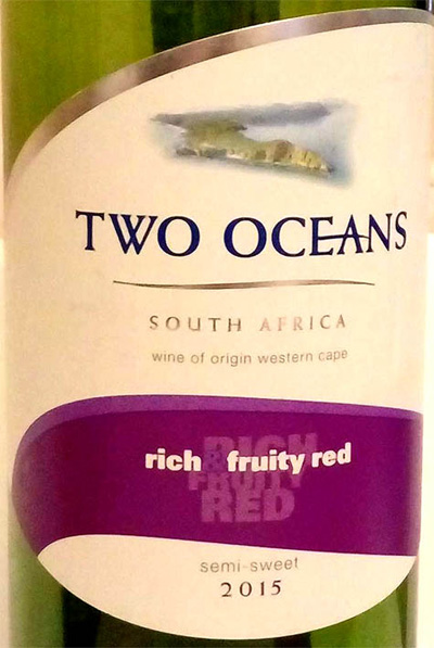 Отзыв о вине Two Oceans rich fruity red 2015