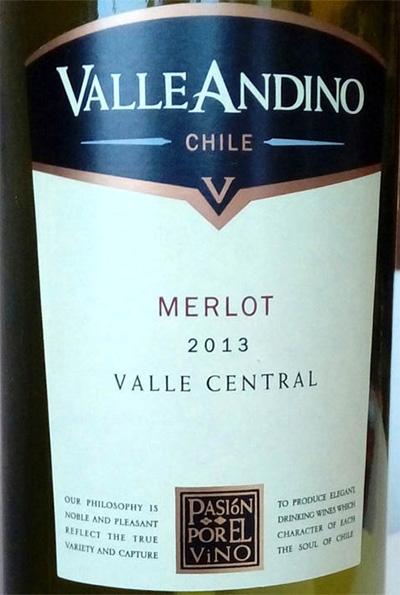 Отзыв о вине Valle Andino merlot 2013