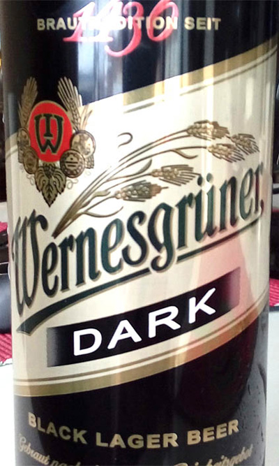 Отзыв о пиве Wernesgruner dark