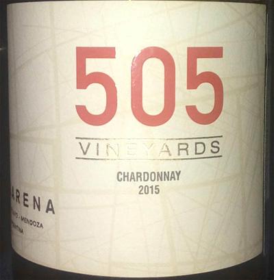 Отзыв о вине 505 Vineyards chardonnay 2015