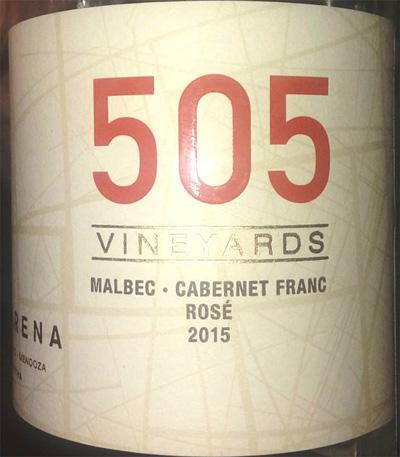 Отзыв о вине 505 Vineyards malbec cabernet franc rose 2015