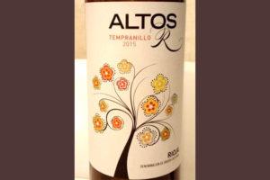 Отзыв о вине Altos R tempranillo 2015