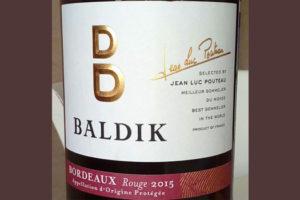 Отзыв о вине Baldik bordeaux rouge 2015