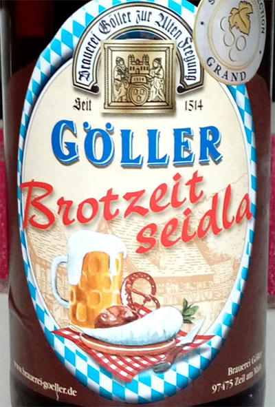 Отзыв о пиве Brotzeit seidla Goller