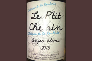 Отзыв о вине Chateau de la Roulerie Le P'tit Chenin Anjou blanc 2015