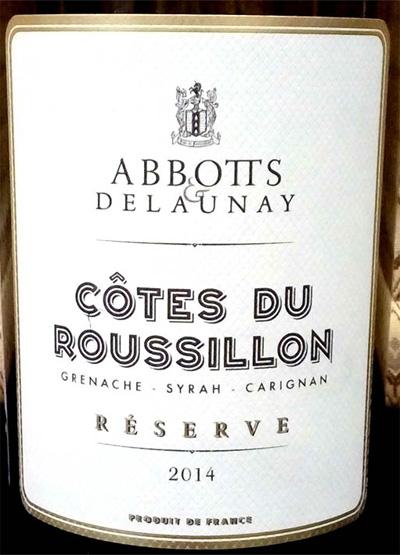 Отзыв о вине Cotes du Roussillon reserve Abbotts & Delaunay 2014