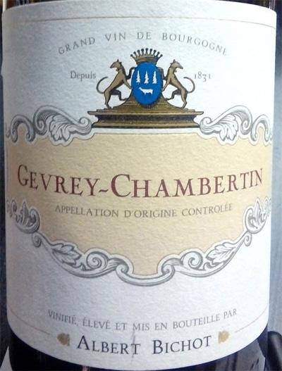 Отзыв о вине Gevrey-Chambertin rouge Albert Bichot 2012