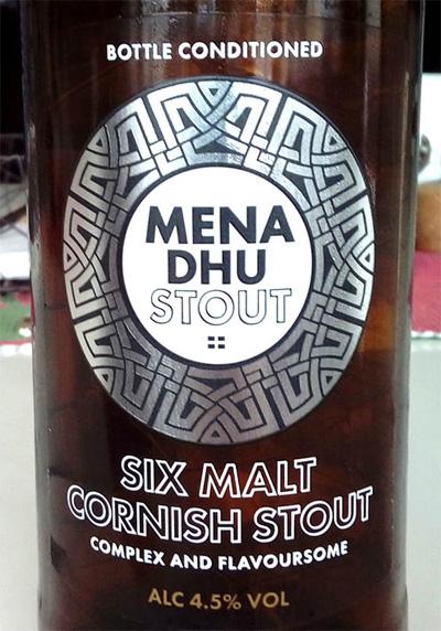 Отзыв о пиве Mena Dhu stout