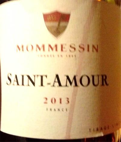 Отзыв о вине Mommessin Saint-Amour 2013