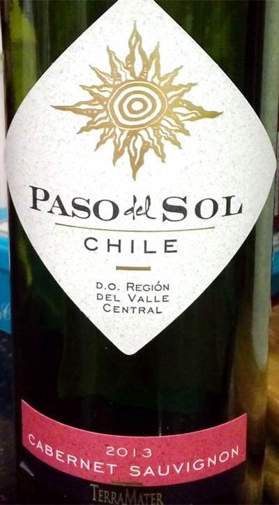 Отзыв о вине Paso del Sol cabernet sauvignon 2013