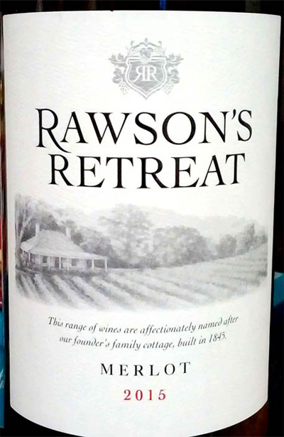 Отзыв о вине Rawson's retreat merlot 2015
