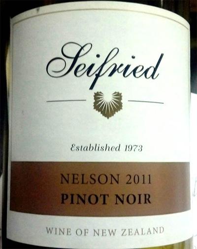 Отзыв о вине Siefried pinot noir Nelson 2011