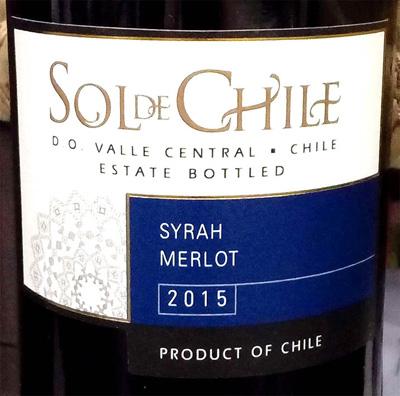 Отзыв о вине Sol de Chile syrah merlot 2015