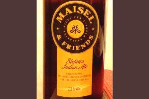 Отзыв о пиве Stefan's Indian Ale Maisel & friends