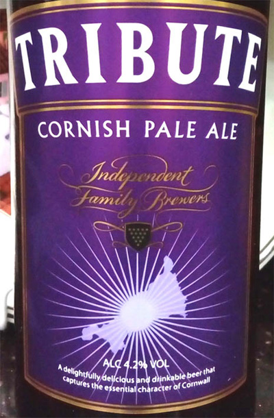 Отзыв о пиве Tribute cornish pale ale