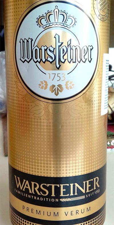 Отзыв о пиве Warsteiner premium verum