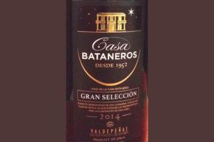 Отзыв о вине Casa Bataneros gran seleccion 2014