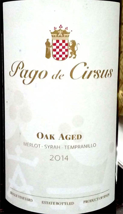 Отзыв о вине Pago de Cirsus merlot syrah tempranillo 2014