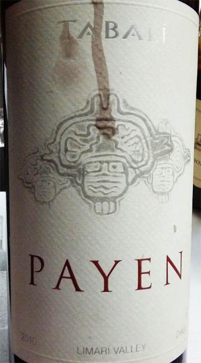Отзыв о вине Payen Tabali 2010