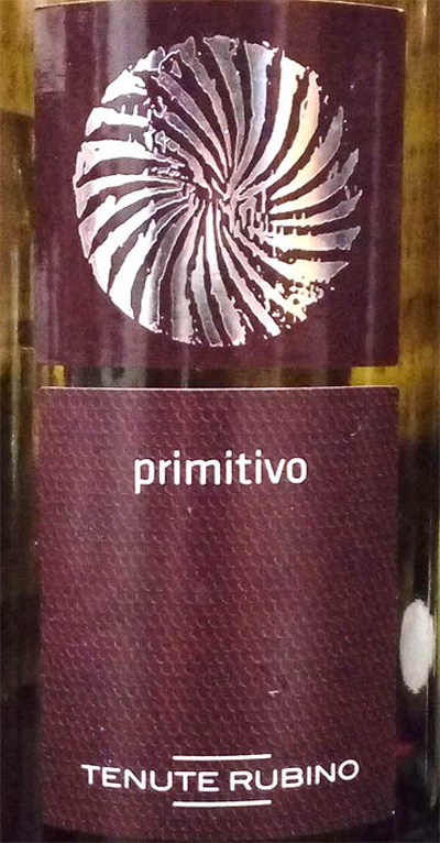 Отзыв о вине Primitivo Salento tenute rubino 2015